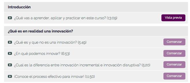 Temas curso detectar oportunidades innovacion 1