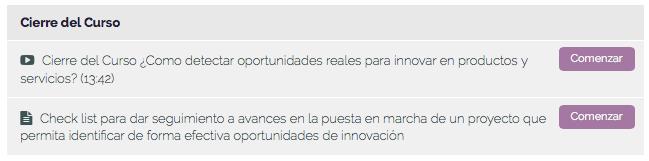 Temas curso detectar oportunidades innovación 7
